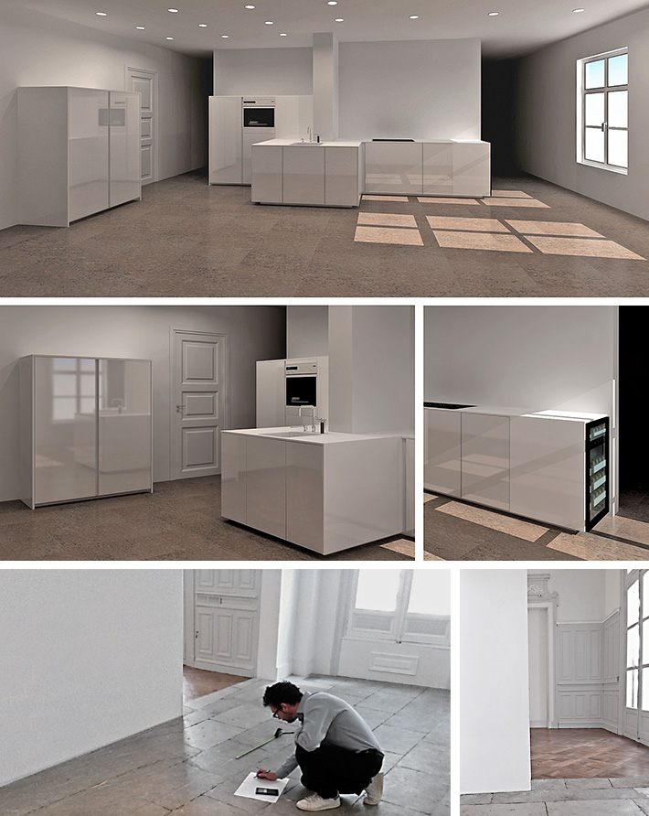 realisation en cours cuisine poggenpohl. Black Bedroom Furniture Sets. Home Design Ideas