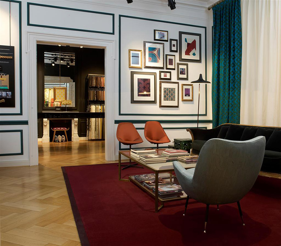 tissus dedar. Black Bedroom Furniture Sets. Home Design Ideas