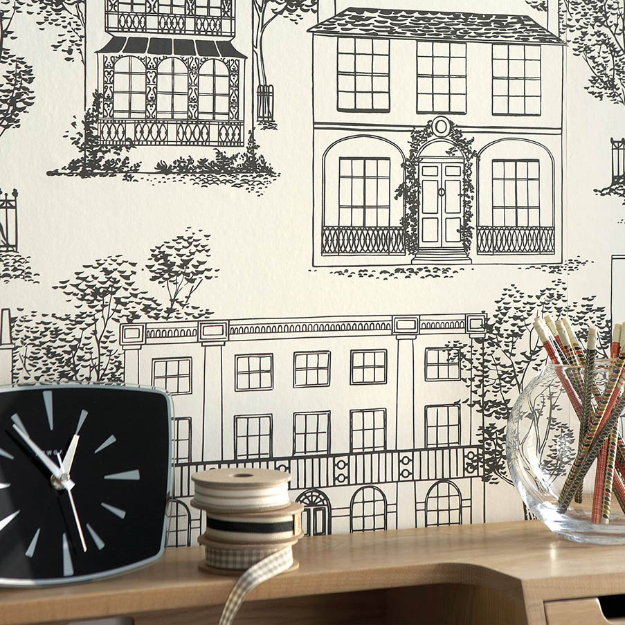 poser du papier peint little greene. Black Bedroom Furniture Sets. Home Design Ideas